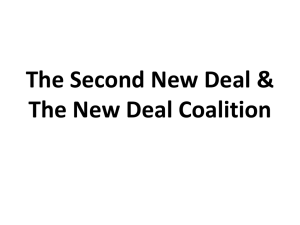 The Second New Deal & The New Deal Coalition