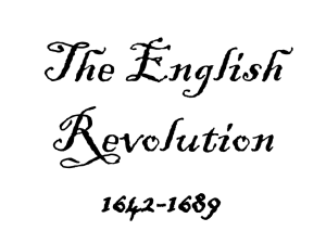 The English Revolution