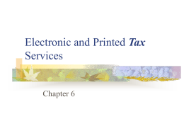 Published Tax Services - The University of Texas at Dallas