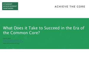 What Does it Take to Succeed in the Era of the