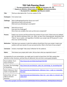 TED TALK GUIDE and RUBRIC