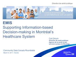 EMIS - Community Data Program