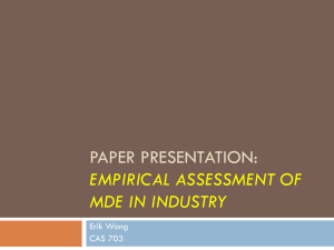 Paper review: Empirical assessment MDE in industry
