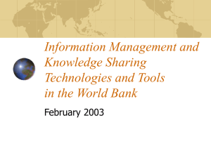 Knowledge Management and Knowledge Sharing Technology in