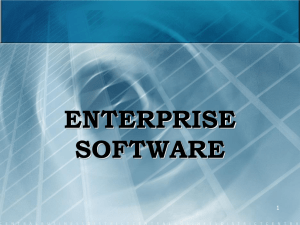 Lecture 1 - Enterprise Software