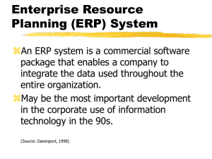 Enterprise Resource Planning (ERP) System