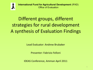 Choices in Agricultural and Rural development: different