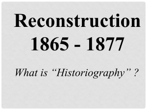 Did Reconstruction fail?