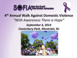 4 th Annual Walk Against Domestic Violence