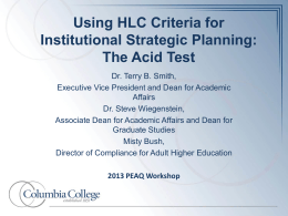 HLC Strategic Planning Presentation