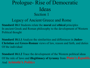 Prologue- Rise of Democratic Ideas