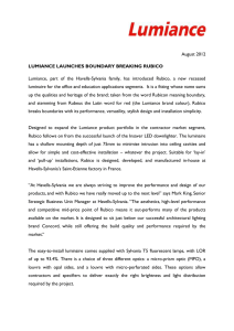 August 2012 LUMIANCE LAUNCHES BOUNDARY BREAKING