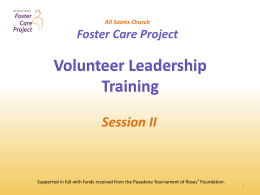 Foster Care Training II - Saints | Foster Care Project