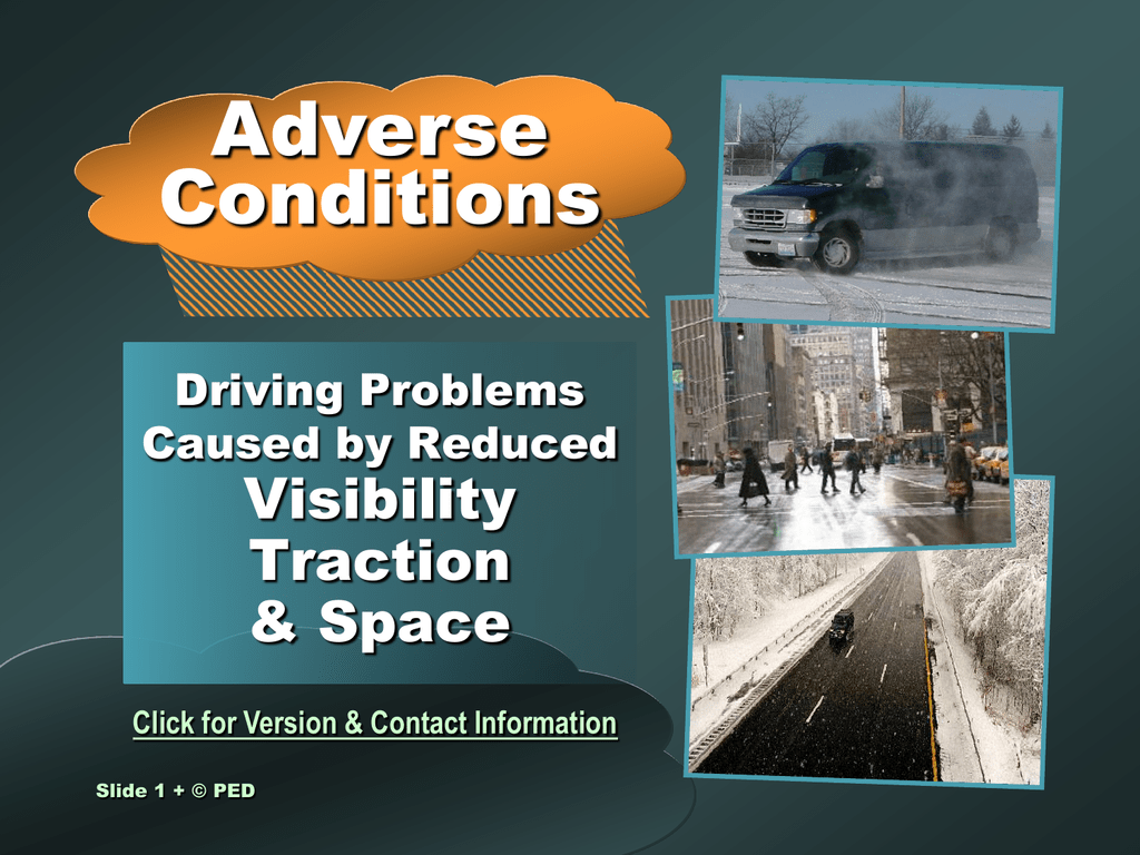 adverse conditions studylib