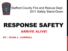 driving safety - Stafford County Fire & Rescue