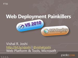 FT56: Web Deployment Painkillers: VS2010 and MS