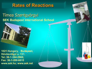 Rates of reactions - jedlik.phy.bme.hu!