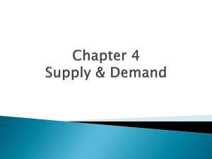 Chapter 4 Notes - Demand