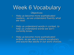 Week 6 Vocabulary