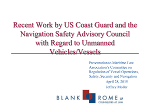 Recent Work by US Coast Guard and the Federal Navigation Safety