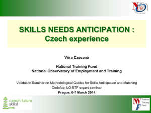 Skills need anticipation: Czech experience