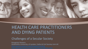 HEALTH CARE PRACTITIONERS AND DYING PATIENTS
