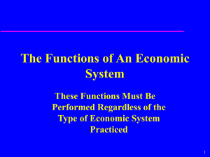 Functions of Any Economic System