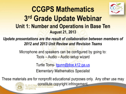Resources - Georgia Mathematics Educator Forum: Grades K-5
