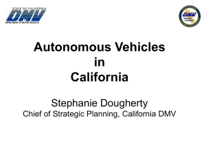 Autonomous Vehicles in California