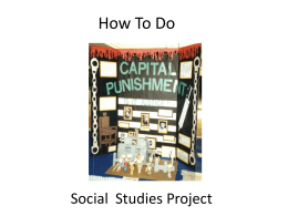 Social Studies Projects
