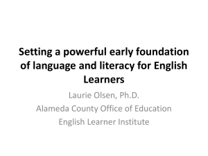 Setting a powerful early foundation of language and literacy for