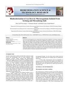 bioremediation science & technology research