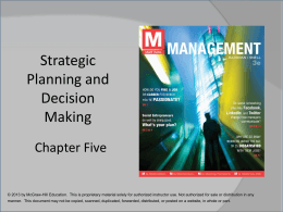 Operational planning - McGraw Hill Higher Education