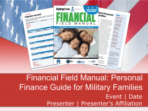 Financial Field Manual: Personal Finance Guide For Military
