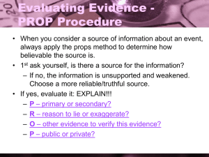 Evaluating Evidence - PROP