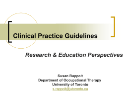 The art and science of effective teaching clinical practice guidelines canadian association of occupational malvernweather Gallery