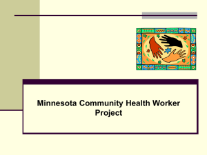 CMHW 1000 The Community Health Worker Role