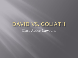 Class Action & Small Claims Cases