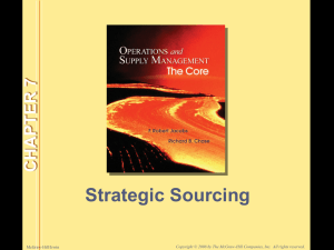 Strategic Sourcing CHAPTER 7