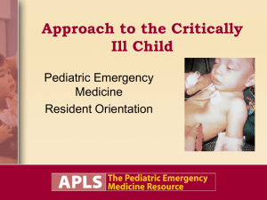 Approach to the Critically Ill Child