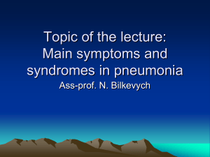 11_Main symptoms and syndromes in pneumonias