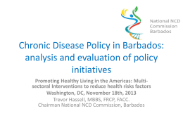 Chronic Disease Policy in Barbados