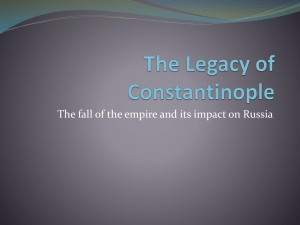 The Legacy of Constantinople