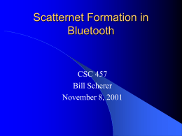 Scatternet Formation in Bluetooth