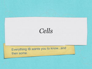 Cells - TeacherWeb