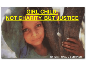 Girl Child-Not Charity, But Justice
