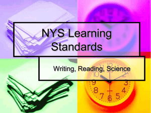 NYS Learning Standards - SPED277-TheWaterCycle