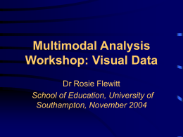 Multimodal Analysis Workshop