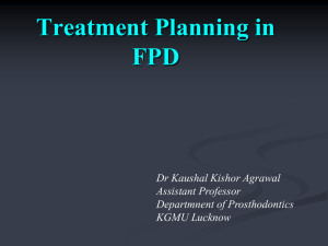 Treatment Planning in FPD