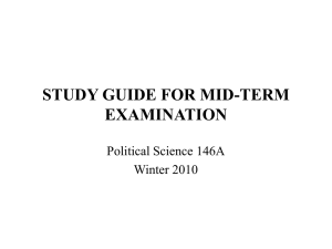 STUDY GUIDE FOR MID